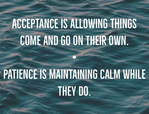Acceptance Is Allowing